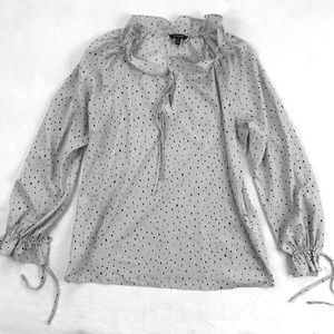 Banana Republic Gray Blouse with Ties
